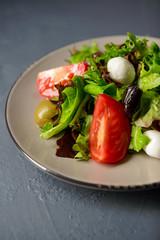 Cropped photo of spring vitamin fresh salad
