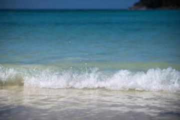 Wall Mural - Closeup water splash at tropical sea