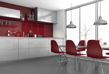 Küche Einbauküche Küchenzeile Wohnküche Küchentechnik moder