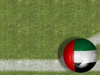 United Arab Emirates Ball in a Soccer Field
