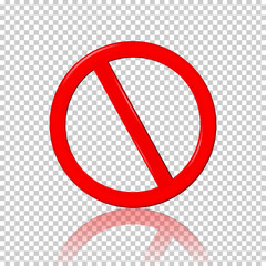 Stop Sign, isolated on transparent  background