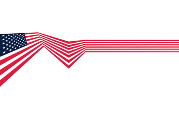 Vector - Abstract US flag top left cover vector