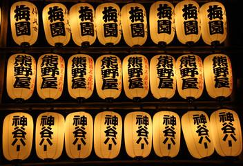 Lanternes votives au temple de Sensoji à Tokyo, Japon