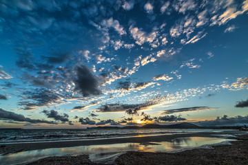 Foto op Plexiglas Inspirerende boodschap cloudy sky at sunset