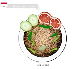 Mie Goreng or Traditional Indonesian Fried Noodles