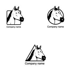 Set of Horse logo