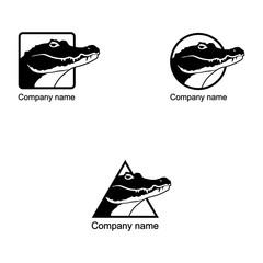 Set of Crocodile logo