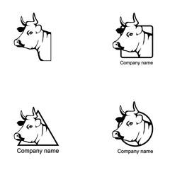 Set of Cow logo