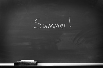 Chalkboard with Summer Sign