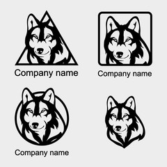Set of wolf logo