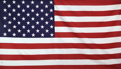 USA Flag real fabric seamless close up