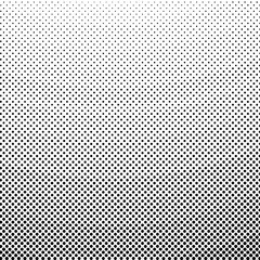 Pop Art Background, Black Dots on a White Background, Gradient Down Up, Halftone Background, Retro Style, Vector Illustration