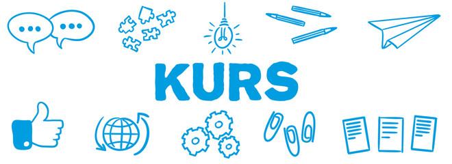 Stick Figure Series Banner Blue / Kurs