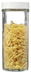 Bottle stuffed with pasta