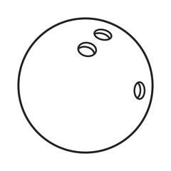 Line icon bowling ball. Vector illustration.