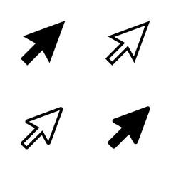 Vector set / arrow sign / cursors / icons. Vector  illustration.
