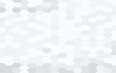Gray and white geometric pattern, simple hexagonal texture