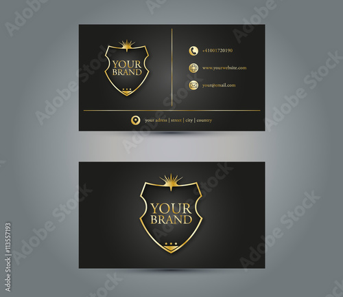 Luxury business card design stock image and royalty free vector luxury business card design reheart Image collections
