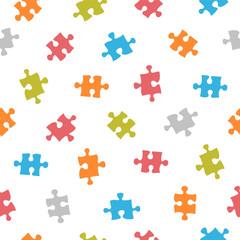 Seamless pattern - puzzle