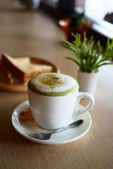 green tea latte art
