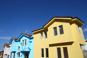 colorful new homes in Odunpazari, Turkey