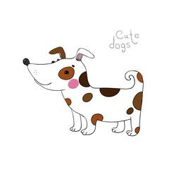Cute cartoon dog.