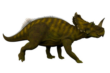 Centrosaurus Side Profile - Centrosaurus was a herbivorous ceratopsian dinosaur that lived in Canada during the Cretaceous Period.