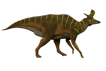 Lambeosaurus Side Profile - Lambeosaurus was a Hadrosaur dinosaur that lived in North America during the Cretaceous Period.
