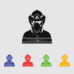 Fireman vector icon