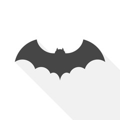 Bat icon with long shadow