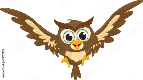 Cute owl cartoon flying stock image and royalty free vector files cute owl cartoon flying voltagebd Choice Image