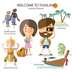 tourist travel to southern Thailand
