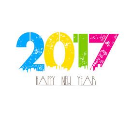 creative happy new year greeting design