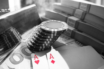 Aces Black & White Stock Photo High Quality