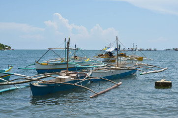 Fishing boats in the Philippines