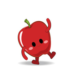 Vector of cute apple character