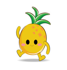 Vector of cute pineapple character