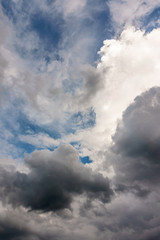Clouds of rainy season background