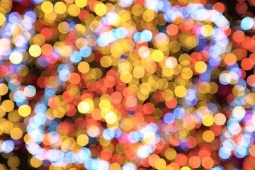 christmas lights color background
