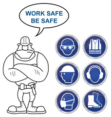 Health and Safety Signs and builder