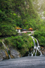 Changchun temple and waterfall at Taroko National Park