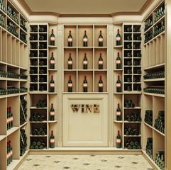 Винотека 3d rendering