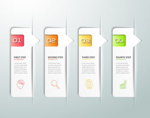 Design infographic 4 options template,  Business concept infographic