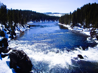 Yellowstone river in melt