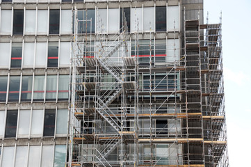 building construction and scaffold frame