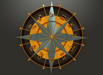 Astrology symbol in circle