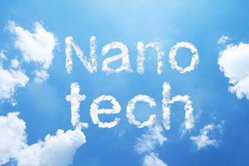 """""""Nano Tech"""" cloud word on sky."""