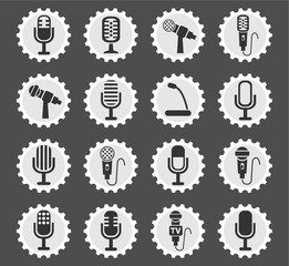 microphone icon set