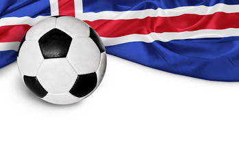 Banner Fußball Island