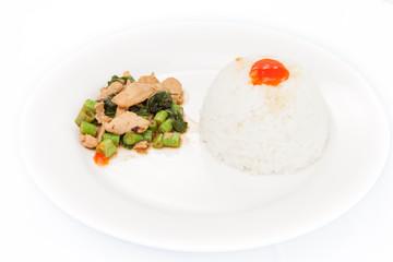 """Thai food, """"KAPAO MOO"""" (Thai cuisine)"""